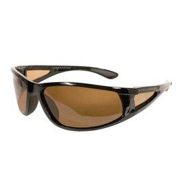 Streamside Wrap Around Sunglasses - Brown / W Case