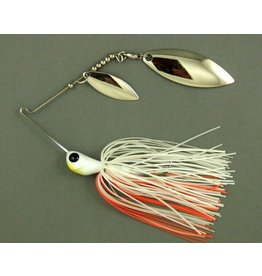 Ultra Tungsten T-Blade Tungsten Spinnerbait - Creamsicle Double Willow Silver 1/2 oz