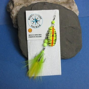 North Shore French Blade Spinner - Chartreuse Tiger