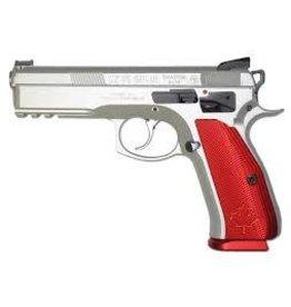 CZ CZ 75 Shadow Canadian Semi-Auto Pistol, 9MM, Stainless steeel frame, red alum grip, 10 rnd,
