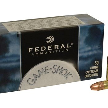 Federal Federal Game-Shok Ammunition 22 Long Rifle Hyper Velocity 31 Grain Plated Lead Hollow Point 50rd single