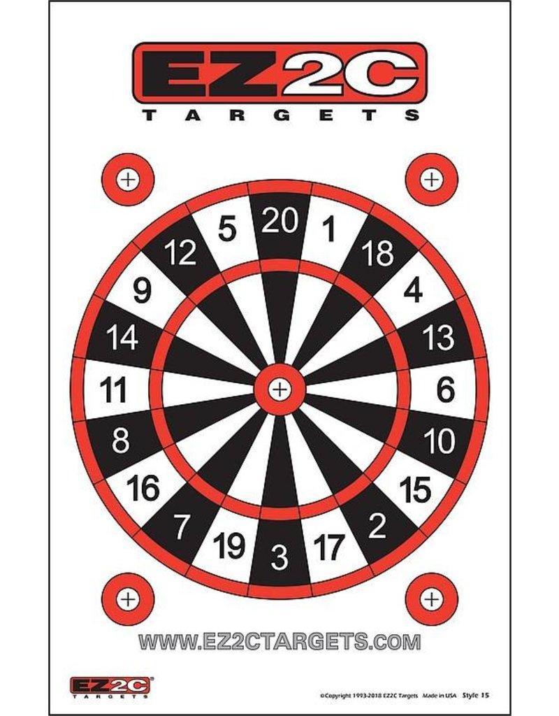"""EZ2C EZ2C Target  25ct/pack Style 15 11"""" x 17"""""""