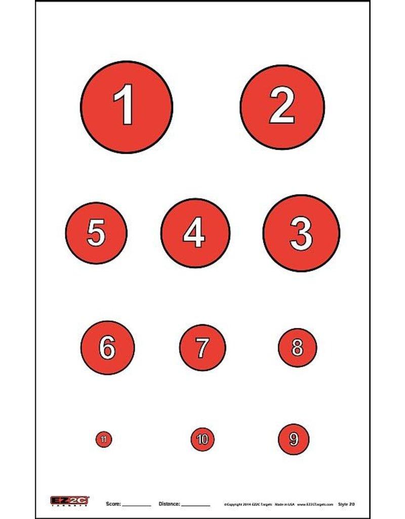"""EZ2C EZ2C Target  25ct/pack Style 20 11"""" x 17"""""""