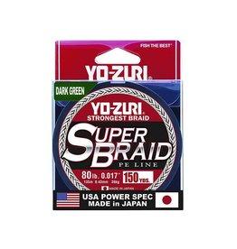 Yo-Zuri YO-ZURI SUPERBRAID LINE, 80LB(0.43mm). X 150YD. DARK GREEN