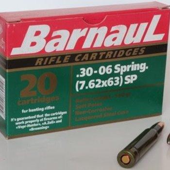 Barnaul Barnaul 30-06 spr 7.62x63 FMJ 145 gr non corrosive 20/pack