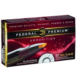 Federal Federal Trophy Bonded Tip .30-06 Springfield Ammunition 20 Rounds Bonded Tip 180 Grains P3006TT1