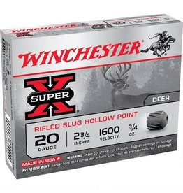 "WINCHESTER Winchester 20 Gauge Super X 2 3/4"" Rifled HP Slug Five Rounds"