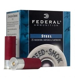"""Federal Ammo 20 Gauge Federal Speed-Shok 2-3/4"""" #4 Steel 3/4 Ounce 25 Round Box 1425 fps WF2084"""