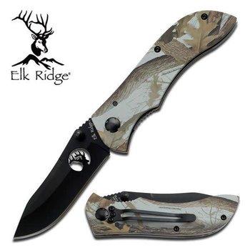 Elk Ridge Elk Ridge Folding Knife 4.62'' - Grey Jungle Camo Handle