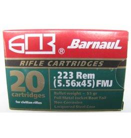 Barnaul Barnaul .223 Rem 55 Grains 20 Rounds Steel Case FMJ