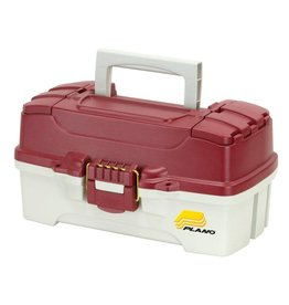Plano Plano 1-Tray Tackle Box with Dual Top Access, Red/White
