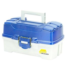 Plano Plano 2-Tray Tackle Box with Dual Top Access, Blue/White