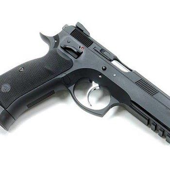 KJ WORKS KJ Works CZ75 SP-01 Shadow CO2/Gas Blowback Pistol ( Black )
