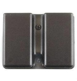 Uncle Mike's Kydex Double Mag Pouch Single-Stack Belt Slide Black