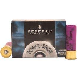 "Federal Federal Power-Shok 16Ga. 2-3/4"" #1 Buck 12Pellets 5rds Box"