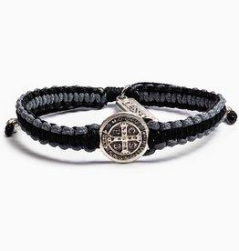 My Saint My Hero - Gratitude Blessing Bracelet (Black & Gray, Silver)