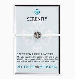 My Saint My Hero - Serenity Bracelet (White, Silver)