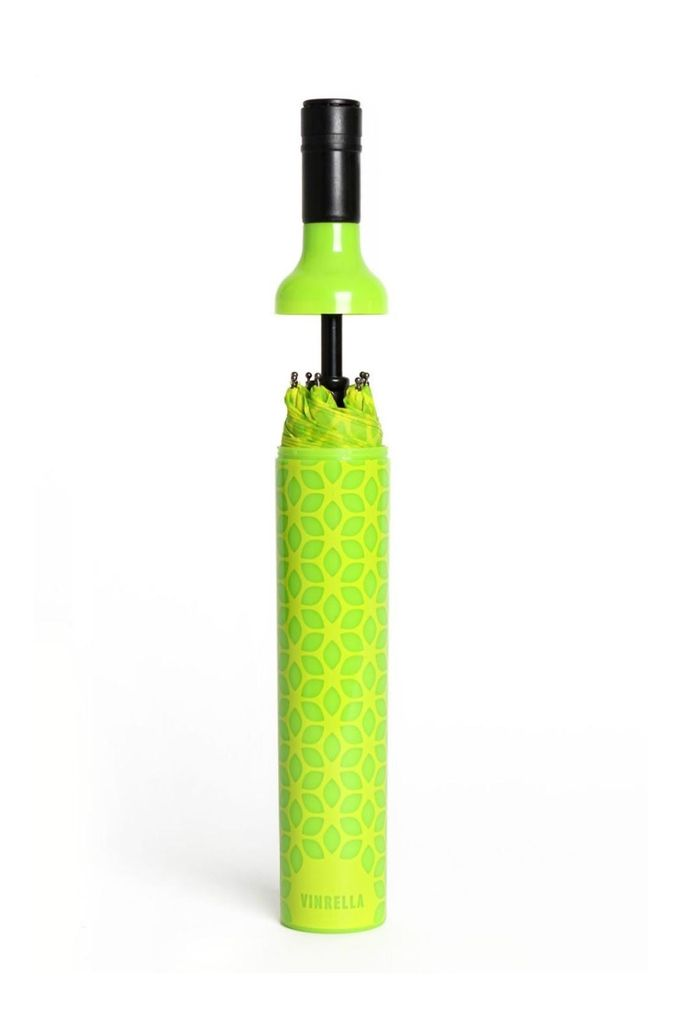 Vinrella Wine Bottle Umbrella - Botanical Green