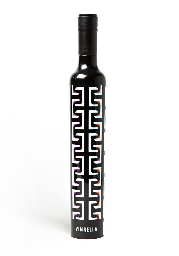 Vinrella Wine Bottle Umbrella - Geometric Black/White