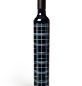Vinrella Wine Bottle Umbrella - Black Plaid