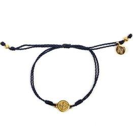 My Saint My Hero - Breathe Blessing Bracelet - Gold Medal -Navy
