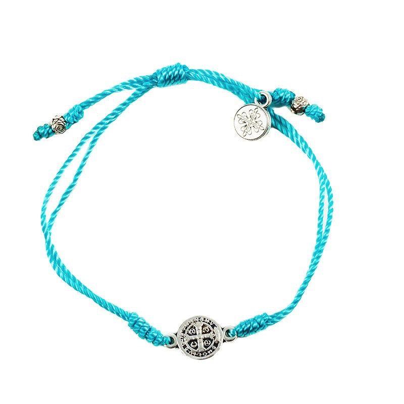 My Saint My Hero - Breathe Blessing Bracelet - Silver Medal - Turquoise