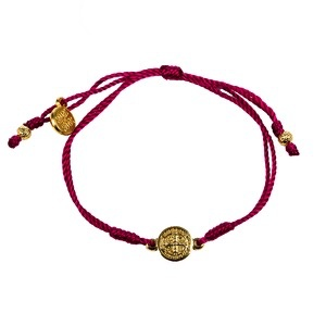 My Saint My Hero Breathe Bracelet-Merlot-Gold