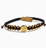 My Saint My Hero - Stairway to Heaven Bracelet (Black, Gold & Golden Glass)