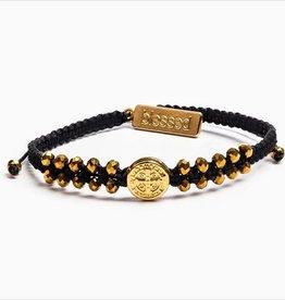 My Saint My Hero - Stairway to Heaven Bracelet (Black, Gold & Golden Glass)