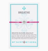 My Saint My Hero - Breathe Bracelet-Fuchsia
