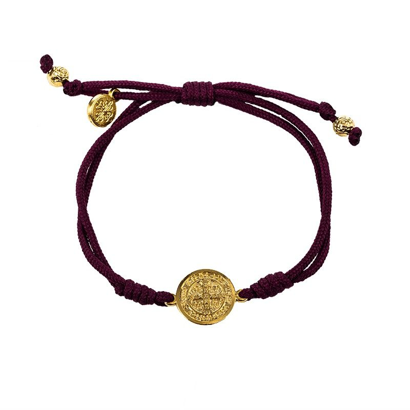 My Saint My Herp Serenity Bracelet-Eggplant/Gold