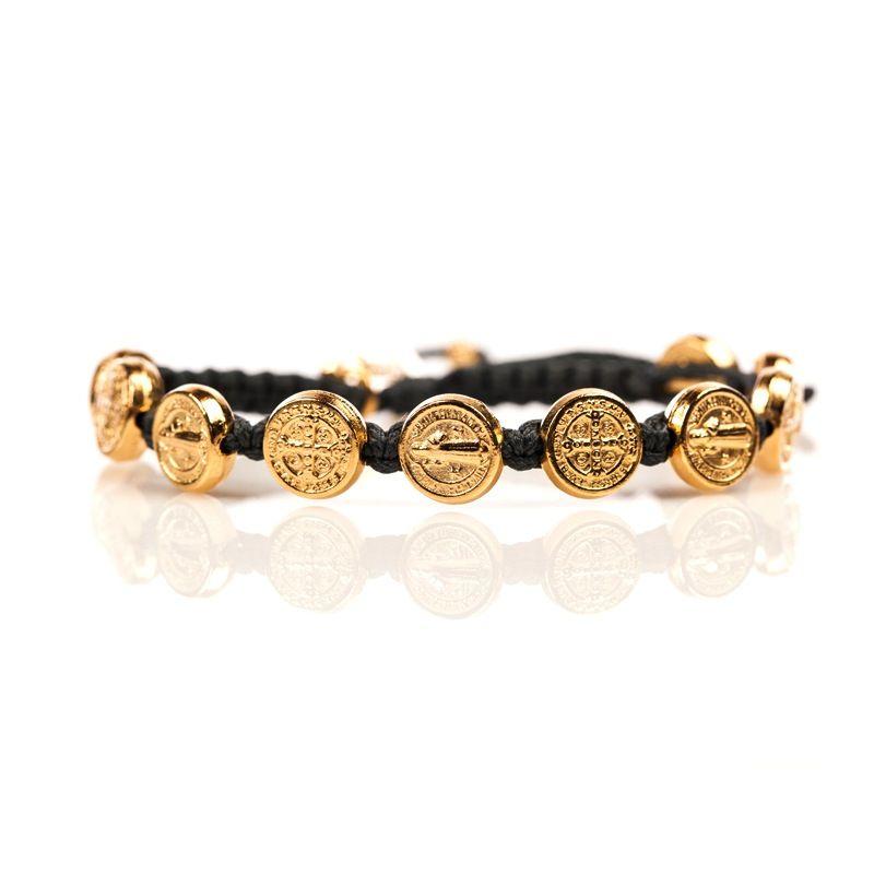 Benedictine Blessing Bracelet - Gold Medal - Slate