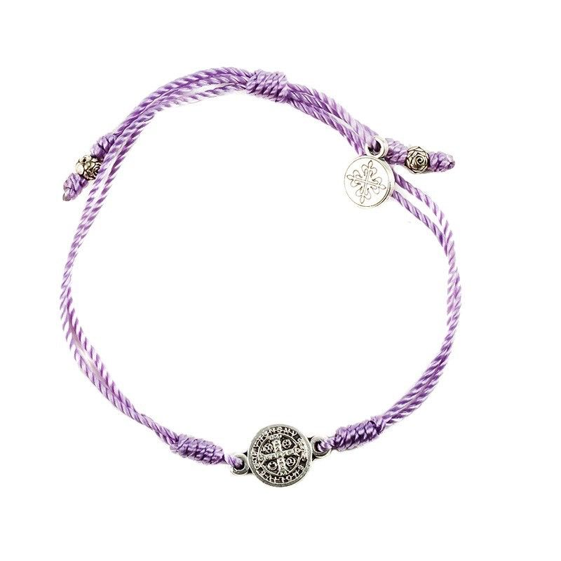 My Saint My Hero - Breathe Blessing Bracelet - Silver Medal - Purple