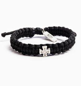 My Saint My Hero - Strength Bracelet - Black/Silver