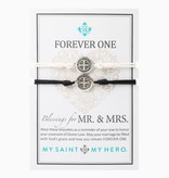 My Saint My Hero - Forever One - Mr. & Mrs. Blessings Bracelets - Black/Silver