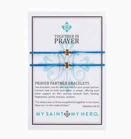 My Saint My Hero - Prayer Partner Bracelets - Blue/Gold