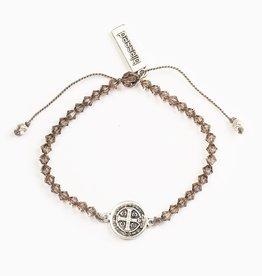 My Saint My Hero - Arise and Shine Crystal Blessing Bracelet - Greige Crystal