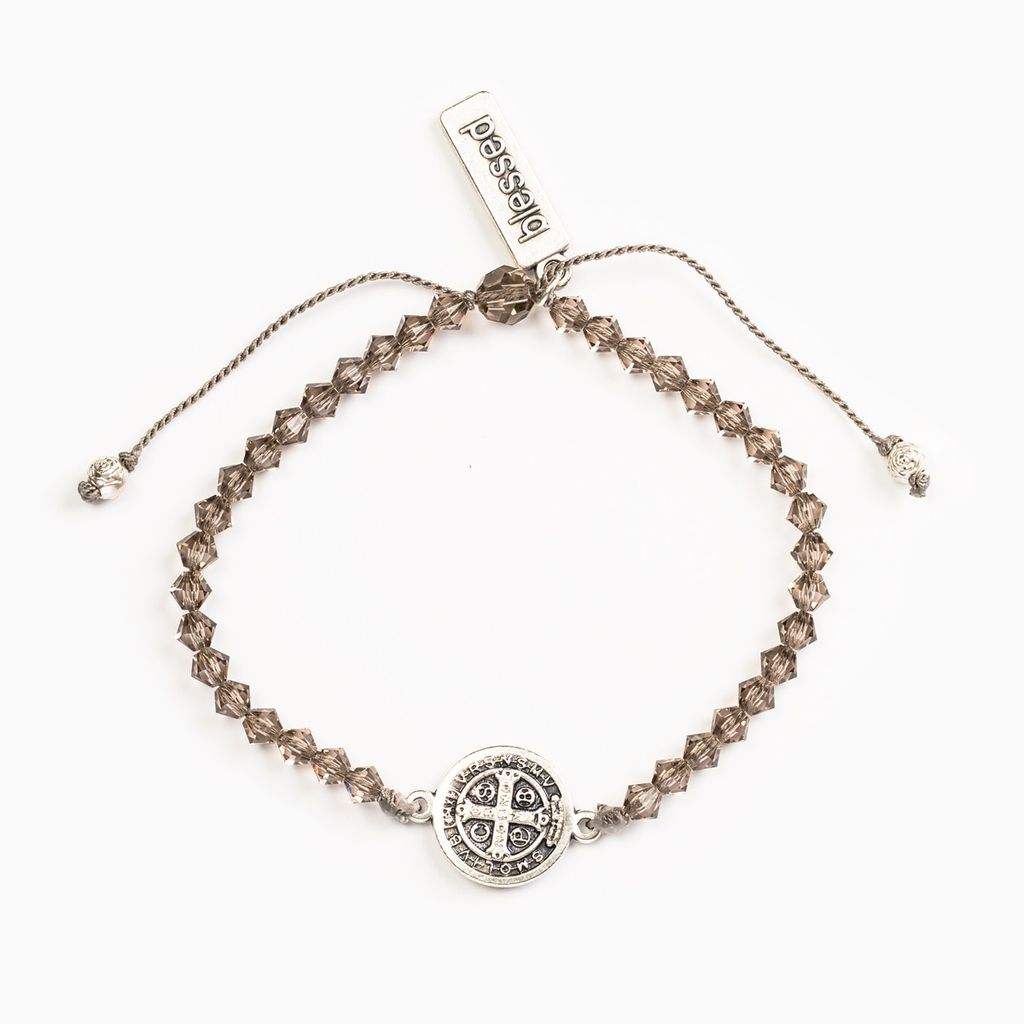 My Saint My Hero - Arise and Shine Crystal Blessing Bracelet - Greige Crystal