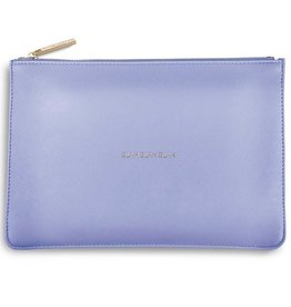 Katie Loxton The Perfect Pouch - Blah Blah Blah - Cornflower Blue