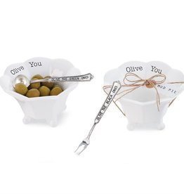 Mud Pie Olive You Condiment Cup/Green