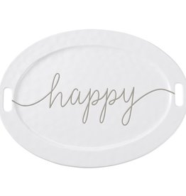 Mud Pie Large Happy Platter