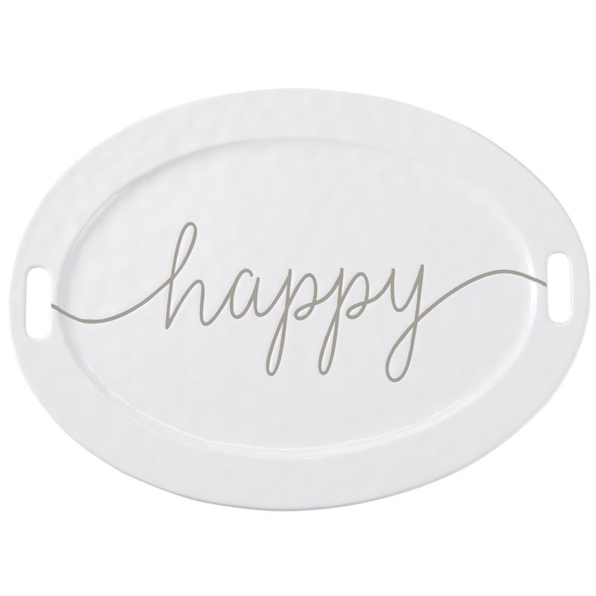 Mud Pie Large Happy Platter
