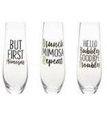 Mud Pie Hello Bubbles Champagne Glass