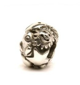 TROLLBEADS - Symbols Bead, Silver  (Large opening to fit all major brands)