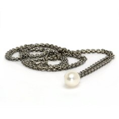 Fantasy Necklace With Pearl, Silver 120 cm/47.2 in