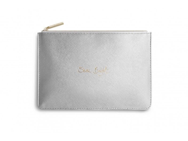 Katie Loxton The Perfect Pouch - Shine Bright - Metallic Silver