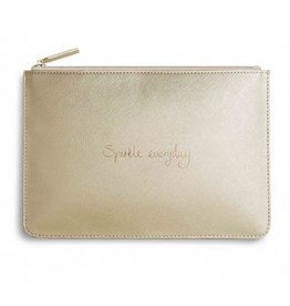 Katie Loxton The Perfect Pouch - Sparkle Everyday - Metallic Gold
