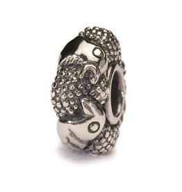 TROLLBEADS - Paradise Birds Bead, Silver (Large opening to fit all major brands)