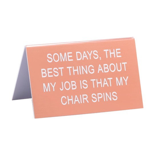 About Face Designs: Chair Spins Sign