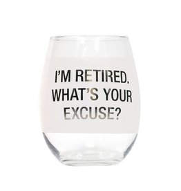 About Face Designs: What's Your Excuse Wine Glass
